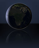 Africa in the dark Royalty Free Stock Photos