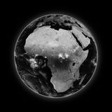 Africa on dark planet Earth Royalty Free Stock Photos
