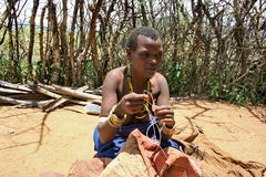 africa datoga Tanzania plemienia kobieta Obrazy Royalty Free