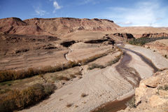 Africa and desert. View of the Moroccan desert north of the country Royalty Free Stock Photo