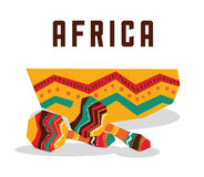 Africa design. maracas instrument icon, vector graphic Stock Images