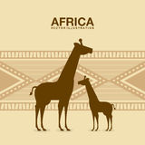 Africa design. Over beige background, vector illustration Stock Photos