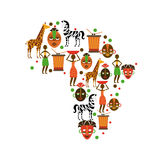 Africa design Royalty Free Stock Images