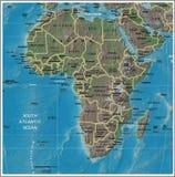 Africa detailed map Stock Photos