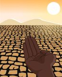 Africa Drought Famine Refugee Concept Illustration Stock Photos