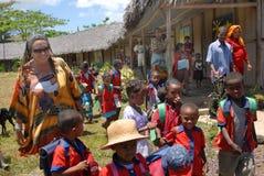 africa dzieci Fotografia Royalty Free