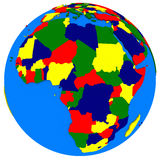 Africa on Earth political map Stock Image