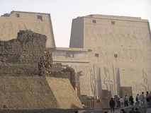 africa edfuegypt tempel arkivfoton