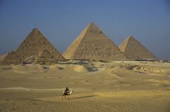 AFRICA EGYPT CAIRO GIZA PYRAMIDS. The pyramids pf giza near the city of Cairo the capital of Egypt in north africa Royalty Free Stock Photo