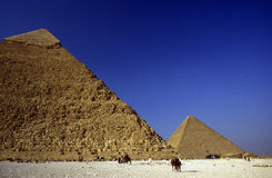 AFRICA EGYPT CAIRO GIZA PYRAMIDS Royalty Free Stock Image