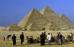 AFRICA EGYPT CAIRO GIZA PYRAMIDS. The pyramids pf giza near the city of Cairo the capital of Egypt in north africa Royalty Free Stock Image