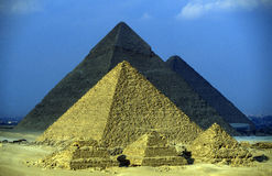 AFRICA EGYPT CAIRO GIZA PYRAMIDS. The pyramids pf giza near the city of Cairo the capital of Egypt in north africa Stock Images