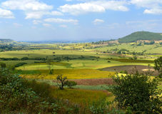 Africa, Ethiopia. Landscape of the African nature. Mountains, va. Lleys and woods royalty free stock images