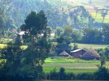 Africa, Ethiopia. Landscape nature. Village. African village in the mountains. Africa, Ethiopia. Landscape nature. Village Royalty Free Stock Images