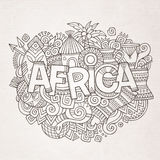 Africa ethnic hand lettering and doodles elements Stock Photo