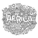 Africa ethnic hand lettering and doodles elements Royalty Free Stock Photo