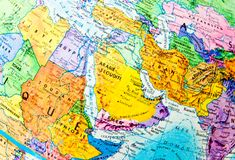 Africa and Eurasia stock image