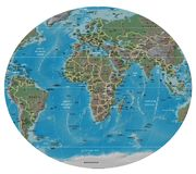 Africa Europe detailed map Royalty Free Stock Photography