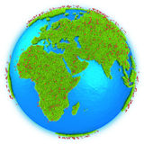 Africa and Europe on planet Earth Royalty Free Stock Image