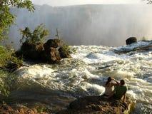 africa faller den livingston zambiaen fotografering för bildbyråer