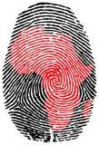 africa fingeravtryck Arkivbild