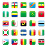 Africa flag a Royalty Free Stock Photo