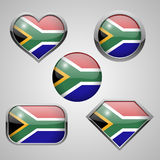 Africa flag icons theme. Illustration Stock Photo