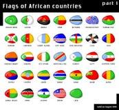 africa flaggor Vektor Illustrationer