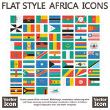 Africa flags flat Stock Images