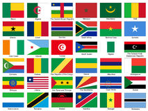 Africa Flags Vector Set Royalty Free Stock Image