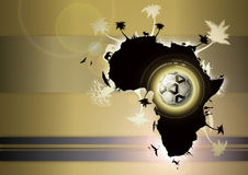 africa fotboll Royaltyfri Fotografi