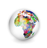Africa Geometric Globe Stock Image