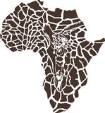 Africa in a giraffe  camouflage Stock Photos