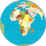 Africa on a Globe Royalty Free Stock Images