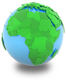 Africa on the globe Royalty Free Stock Photo