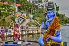 Africa, Grand Bassin indian temple in Mauritius Island Royalty Free Stock Image