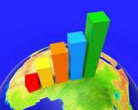 Africa Graph Indicates Financial Report And Analysis Royalty Free Stock Image