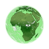 Africa on green Earth Stock Images