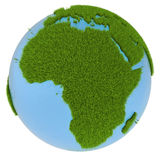 Africa on green planet Stock Photo