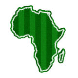 Africa Green Soccer Field Shape for FIFA WORLD CUP. An Africa Shape of Green Soccer Field, FIFA WORLD CUP Royalty Free Stock Image