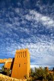 africa histoycal i błękitny chmurny niebo Zdjęcie Royalty Free