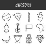 Africa icons set. Set of african ethnic style icons. Vector illustration, EPS 10 Stock Photo