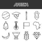 Africa icons set Stock Photo