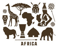 Africa icons set. Africa elements and icons set. Vector illustration, EPS 10 Royalty Free Stock Photography