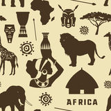 Africa icons set pattern. Vector illustration, EPS 10 Stock Photos