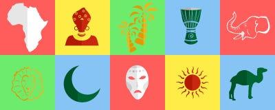 Africa icons set Royalty Free Stock Image