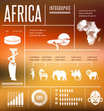Africa - infographics and background Stock Photography