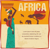 Africa - infographics and background Stock Images