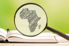 Africa information with a pencil drawing Royalty Free Stock Photography