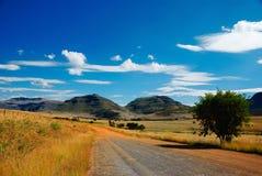africa ingenstans väg som är södra till Arkivbild